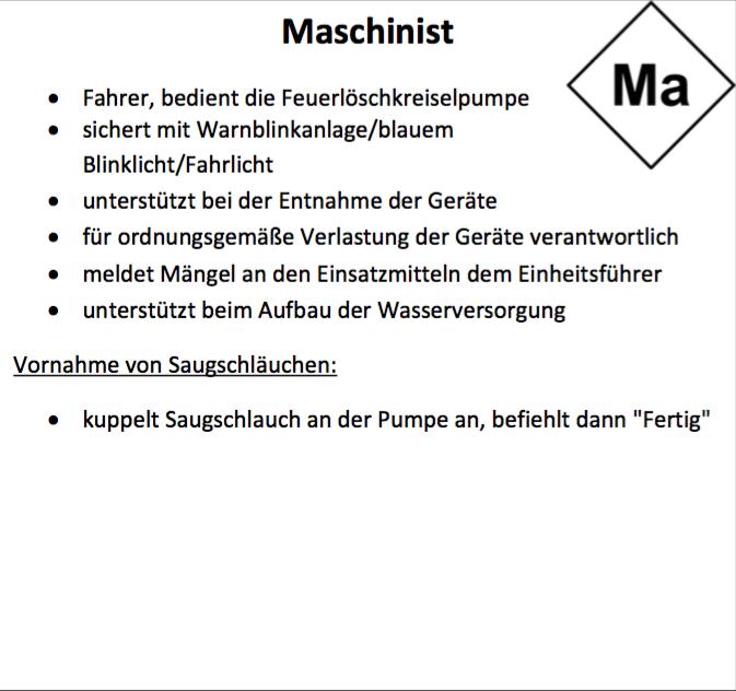 Der Maschinist - Freiwillige Feuerwehr Brachwitz