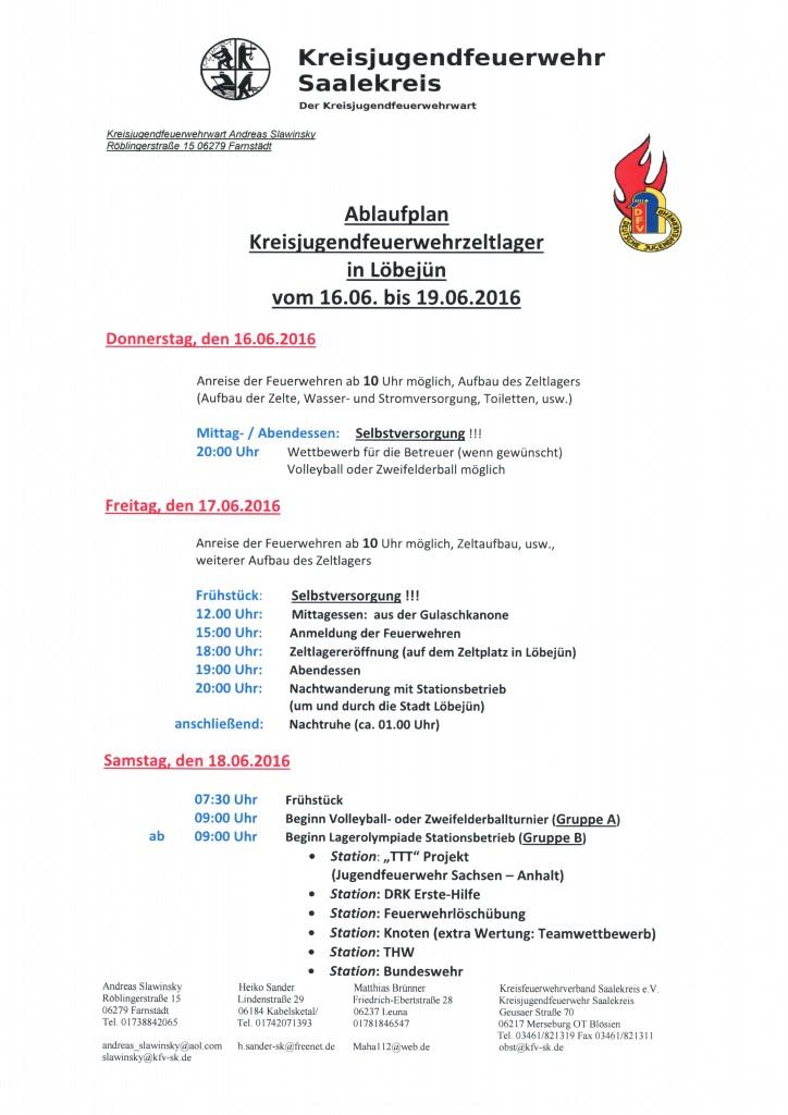 Jugendzeltlager 2016 in Löbejün Seite 1