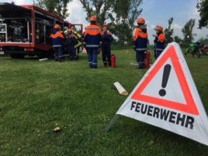 Gelungener Löschangriff zum Kinderfest in Brachwitz