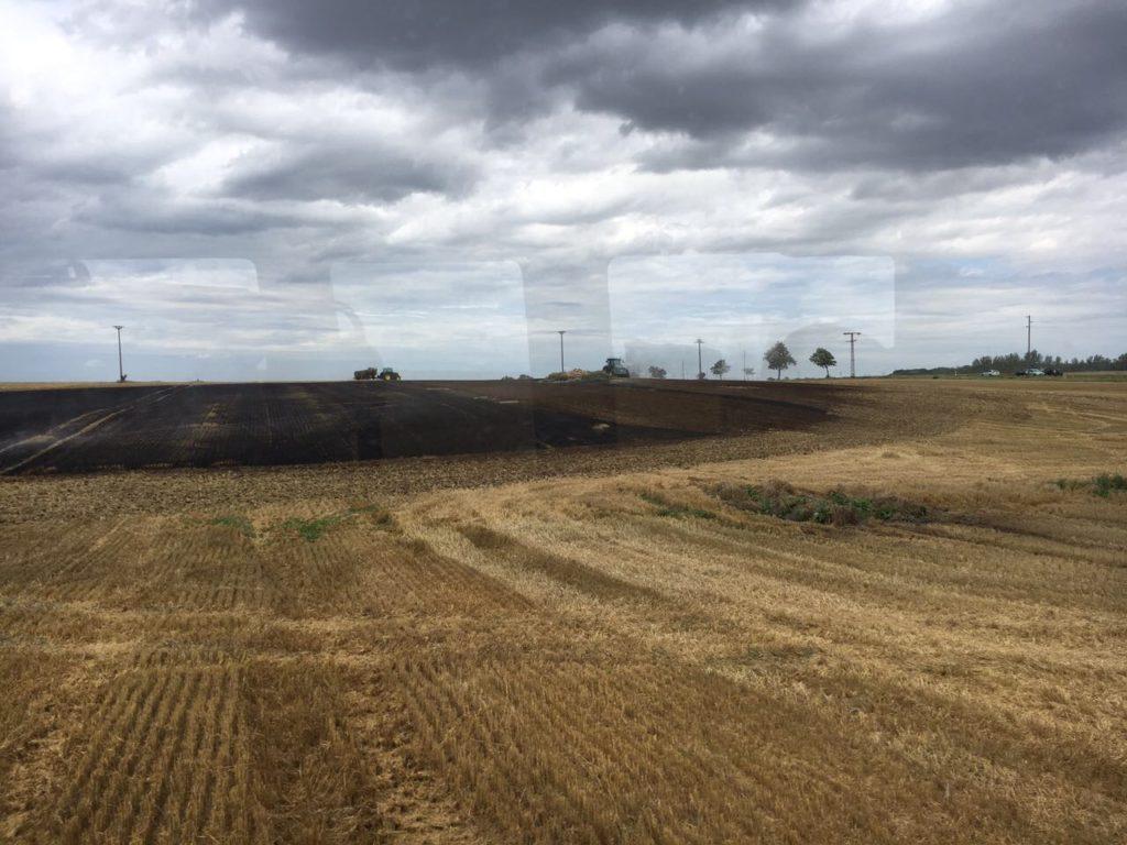 Einsatz 05.08.2017 brennendes Stoppelfeld