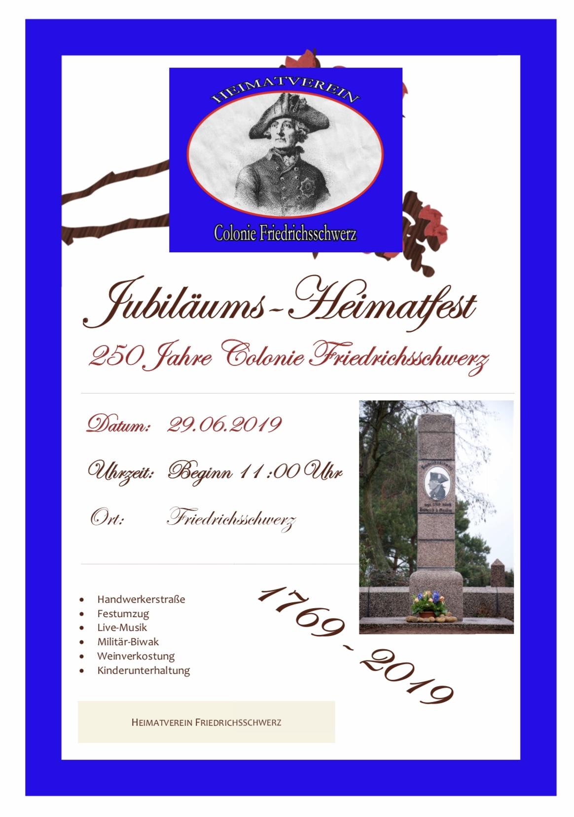 Jubiläum Friedrichsschwerz